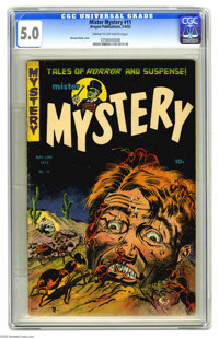 Mister Mystery #11 (Aragon Magazines, Inc., 1953) CGC VG/FN 5.0 Cream to off-white pages. Bernard Baily cover. Basil Wol...