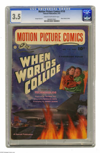 """Motion Picture Comics #110 """"When Worlds Collide"""" (Fawcett, 1952) CGC VG- 3.5 Cream to off-white pages. George..."""