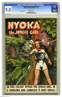 Nyoka the Jungle Girl #2 (Fawcett, 1945) CGC VF/NM 9.0 Off-white pages. This was the first issue under this title (forme...