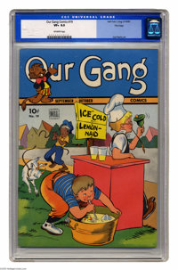 Our Gang #19 File Copy (Dell, 1945) CGC VF+ 8.5 Off-white pages. Carl Barks art. Overstreet 2005 VF 8.0 value = $165; VF...