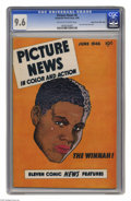 Golden Age (1938-1955):Non-Fiction, Picture News #6 Mile High pedigree (Lafayette Street Corp., 1946) CGC NM+ 9.6 Off-white to white pages. Joe Louis cover and ...
