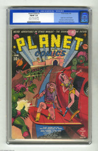 Planet Comics #1 (Fiction House, 1940) CGC FN/VF 7.0 Cream to off-white pages. Two of the all-time great Golden Age arti...