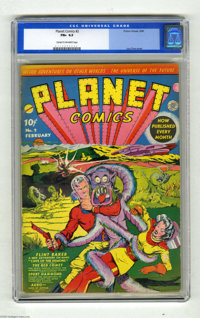 Planet Comics #2 (Fiction House, 1940) CGC FN+ 6.5 Cream to off-white pages. If this cover doesn't get your attention, y...
