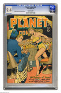 Golden Age (1938-1955):Science Fiction, Planet Comics #50 (Fiction House, 1947) CGC NM 9.4 Off-white pages.Science fiction with a tinge of horror (in the form of a...
