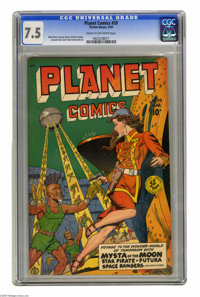 Planet Comics #59 (Fiction House, 1949) CGC VF- 7.5 Cream to off-white pages. Matt Baker, George Evans, and Graham Ingel...