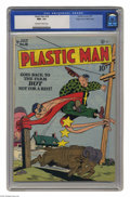"""Golden Age (1938-1955):Superhero, Plastic Man #18 Mile High pedigree (Quality, 1949) CGC NM+ 9.6 Off-white to white pages. It's no """"stretch"""" to say that this ..."""