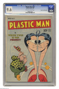 Golden Age (1938-1955):Superhero, Plastic Man #22 Mile High pedigree (Quality, 1950) CGC NM+ 9.6 Off-white to white pages. Jack Cole's covers were just flat-o...