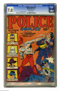 Golden Age (1938-1955):Superhero, Police Comics #3 (Quality, 1941) CGC FN/VF 7.0 Off-white pages. In this early Plastic Man story, Plas was still switching ba...