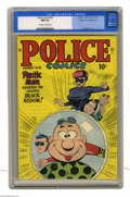 Golden Age (1938-1955):Superhero, Police Comics #96 Mile High pedigree (Quality, 1949) CGC NM 9.4 Off-white to white pages. Plastic Man takes on the sinister ...