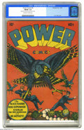 Golden Age (1938-1955):Superhero, Power Comics #4 (Holyoke Publications, 1945) CGC FN/VF 7.0 Off-white to white pages. This issue features a distinctive cover...