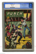 Golden Age (1938-1955):Crime, Punch Comics #18 Mile High pedigree (Chesler, 1946) CGC NM+ 9.6 Off-white pages. This issue's bondage cover and hypodermic n...