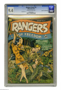 Golden Age (1938-1955):Adventure, Rangers Comics #6 Mile High pedigree (Fiction House, 1942) CGC NM 9.4 Off-white to white pages. Dan Zolnerowich drew this is...