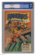Golden Age (1938-1955):Adventure, Rangers Comics #37 (Fiction House, 1947) CGC NM 9.4 Off-white pages. High adventure, an innovative perspective, and a tantal...