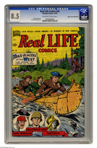 Real Life Comics #50 Mile High pedigree (Nedor Publications, 1949) CGC VF+ 8.5. What if we told you that there's a Golde...