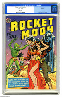 Rocket to the Moon #nn Spokane pedigree (Avon, 1951) CGC NM- 9.2 White pages. You can't beat a science fiction cover in...