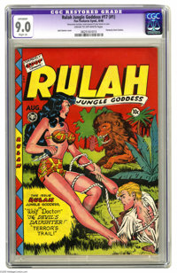 Rulah Jungle Goddess #17 (Fox Features Syndicate, 1948) CGC Apparent VF/NM 9.0 Slight (A) Cream to off-white pages. Firs...