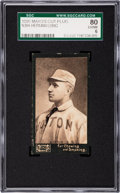 Baseball Cards:Singles (Pre-1930), 1895 N300 Mayo's Cut Plug Herman Long SGC 80 EX/NM 6 - Pop One, OneHigher....