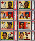Baseball Cards:Lots, 1955 Topps Baseball Shoe Box Collection (185)....