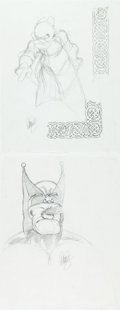 Dave Sim - Cerebus Commission Preliminary Artwork Elements Original Art Group of Comic Art