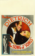 "Movie Posters:Drama, The Song of Songs (Paramount, 1933). Window Card (14"" X 22"").. ..."
