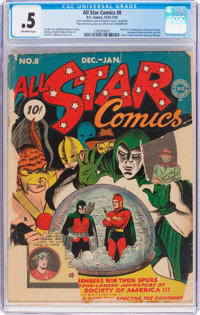 All Star Comics #8 (DC, 1942) CGC PR 0.5 Off-white pages