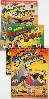 Picture Stories from the Bible Group of 5 (DC, 1942-43) Condition: Average VG.... (Total: 5 Comic Books)