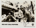 Music Memorabilia:Autographs and Signed Items, Red Hot Chili Peppers Signed Black and White Photo, 1992. ...