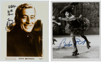 Tony Bennett/Barbra Steisand Signed Photos, Circa 1993-1995