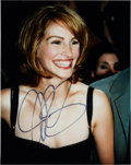 Movie/TV Memorabilia:Autographs and Signed Items, Julia Roberts Signed Color Photo....