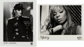 Music Memorabilia:Autographs and Signed Items, Janet Jackson and Mary J. Blige Signed Black and White Photos....