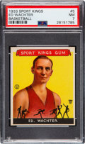 Basketball Cards:Singles (Pre-1970), 1933 Goudey Sport Kings Ed Wachter #5 PSA NM 7....