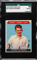 Olympic Cards:General, 1933 Sport Kings Vincent Richards #23 SGC 88 NM/MT 8 -Pop One, NoneHigher! ...