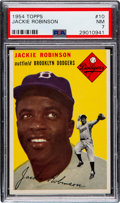 Baseball Cards:Singles (1950-1959), 1954 Topps Jackie Robinson #10 PSA NM 7....