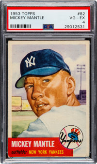 1953 Topps Mickey Mantle #82 PSA VG-EX 4