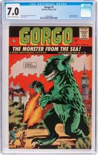 Gorgo #1 (Charlton, 1961) CGC FN/VF 7.0 Cream to off-white pages