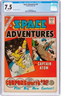 Silver Age (1956-1969):Superhero, Space Adventures #39 (Charlton, 1961) CGC VF- 7.5 Off-white pages....