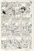 George Pérez and Mike DeCarlo Tales of the Teen Titans #50 Story Page 36 Origina Comic Art