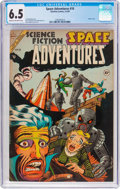 Golden Age (1938-1955):Science Fiction, Space Adventures #10 (Charlton, 1954) CGC FN+ 6.5 Cream tooff-white pages....