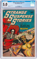 Golden Age (1938-1955):Horror, Strange Suspense Stories #4 (Fawcett Publications, 1952) CGC VG/FN5.0 Off-white to white pages....