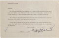 Movie/TV Memorabilia:Autographs and Signed Items, Alfred Hitchcock Signed Document (1954)....