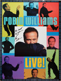 Movie/TV Memorabilia:Autographs and Signed Items, Robin Williams Signed Live! Tour Poster....