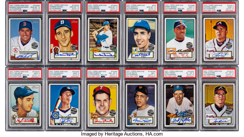 2001 Topps Heritage Baseball Master Collection Includes
