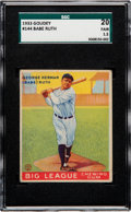 Baseball Cards:Singles (1930-1939), 1933 Goudey Babe Ruth #144 SGC 20 Fair 1.5....