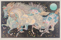 Guillaume Azoulay (b. 1949) Stardust, 2017 Serigraph in colors on wove paper 19-1/2 x 31 inches (