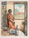 Prints & Multiples, Manuel Marcarulla (20th century). Untitled, 1985. Lithograph in colors on Rives BFK . 20 x 15 inches (50.8 x 38.1 cm) (i...