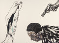 Prints & Multiples, Leon Albert Golub (1922-2004). White Squad, 1987. Lithograph in colors on Arches paper. 29-1/2 x 41-1/2 inches (74.9 x 1...