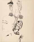 Prints & Multiples, Francesco Clemente (b. 1952). Untitled, n.d.. Lithograph on Arches paper. 16-3/4 x 14 inches (42.5 x 35.6 cm). Initialed...