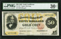 Large Size:Gold Certificates, Fr. 1197 $50 1882 Gold Certificate PMG Very Fine 30 Net.. ...