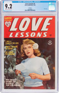 Golden Age (1938-1955):Romance, Love Lessons #2 File Copy (Harvey, 1949) CGC NM- 9.2 Cream tooff-white pages....