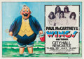 Music Memorabilia:Posters, Beatles - Paul McCartney & Wings City Hall Concert Poster (1973). Rare....
